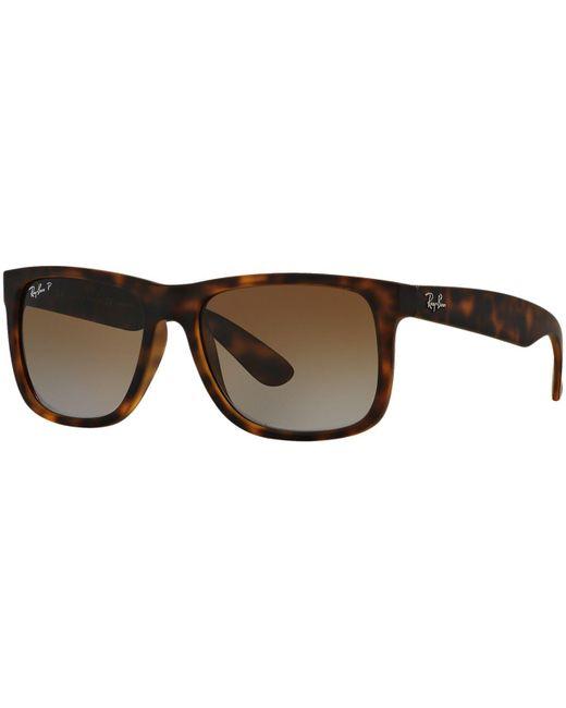 Ray-Ban Black Sunglasses, Rb4165 54 Justin for men