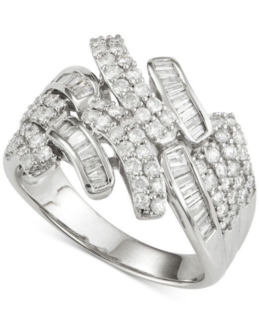 Wrapped in Love - Metallic Diamond Ring (1 Ct. T.w.) In 14k White Gold - Lyst