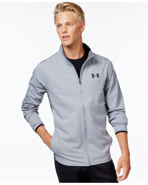 Under Armour | Gray Vital Full-zip Wind-resistant Jacket for Men | Lyst