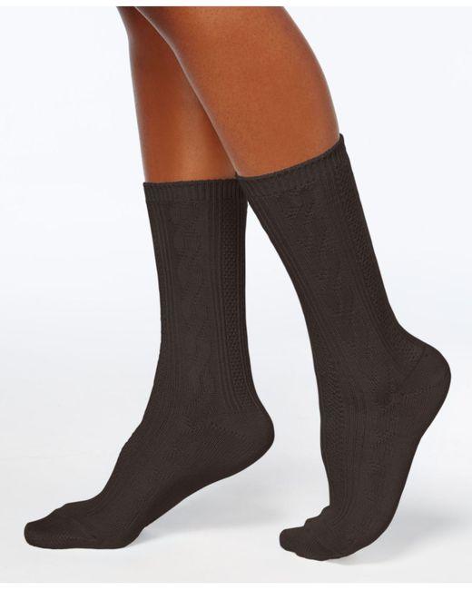 Hue | Brown Women's Pointelle Boot Socks | Lyst