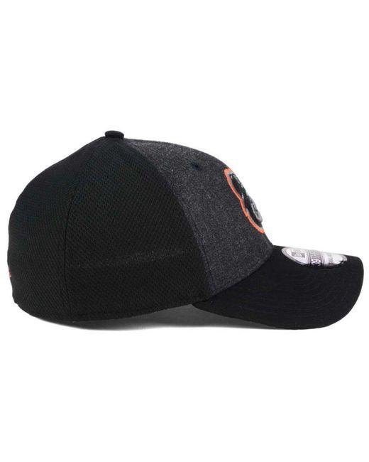 4bdb22e2786 low price ktz baltimore orioles black heathered 39thirty cap for men lyst  c9433 05298