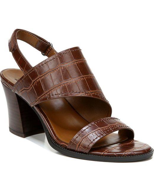 Naturalizer Brown Raelynn Slingback Sandals