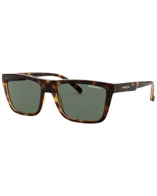 Arnette Green Polarized Sunglasses, An4262 for men