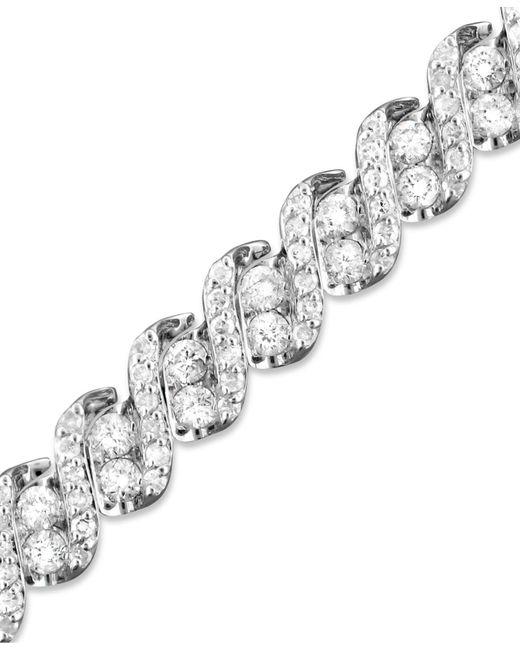 Macy's | Diamond Twist Bracelet In 14k White Gold (5 Ct. T.w.) | Lyst