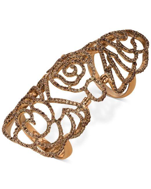 Le Vian - Metallic Diamond Knuckle Ring (2-1/2 Ct. T.w.) In 14k Rose Gold - Lyst