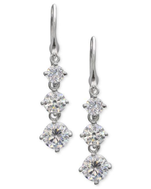 Giani Bernini - Metallic Cubic Zirconia Drop Earrings In Sterling Silver, Created For Macy's - Lyst