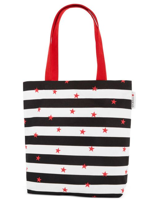 Macy's | Red Canvas Tote | Lyst
