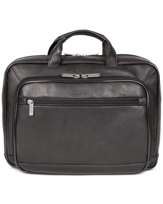 "Kenneth Cole Reaction - Black Point Of De-port-ure Columbian Leather 16"" Computer Portfolio for Men - Lyst"
