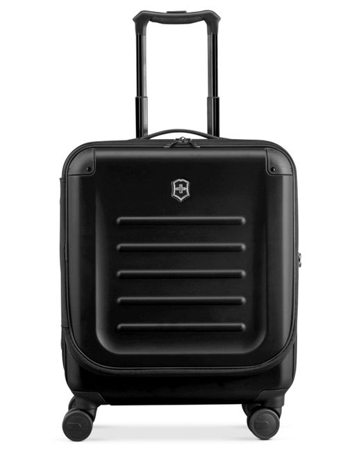 """Victorinox   Black Suitcase, 21"""" Spectra 2.0 Rolling Hardside Extra Capacity Dual Access Carry On Spinner Upright for Men   Lyst"""
