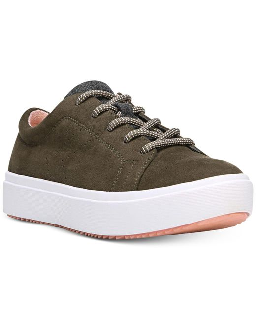 Dr. Scholls   Green Wander Lace-up Sneakers   Lyst