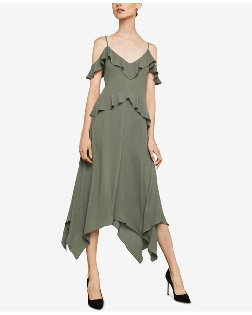 BCBGMAXAZRIA - Green Lissa Asymmetrical Slip Dress - Lyst