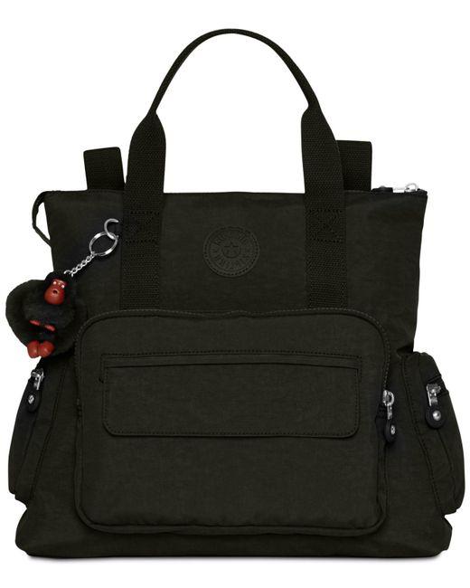 Kipling - Black Alvy 2-in-1 Convertible Tote Bag Backpack - Lyst