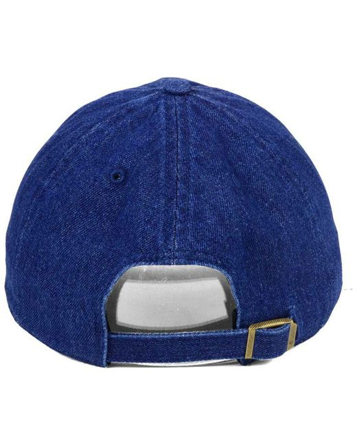 new style 93c87 76978 ... new zealand 47 brand blue all denim clean up cap for men lyst b809f  50d8c