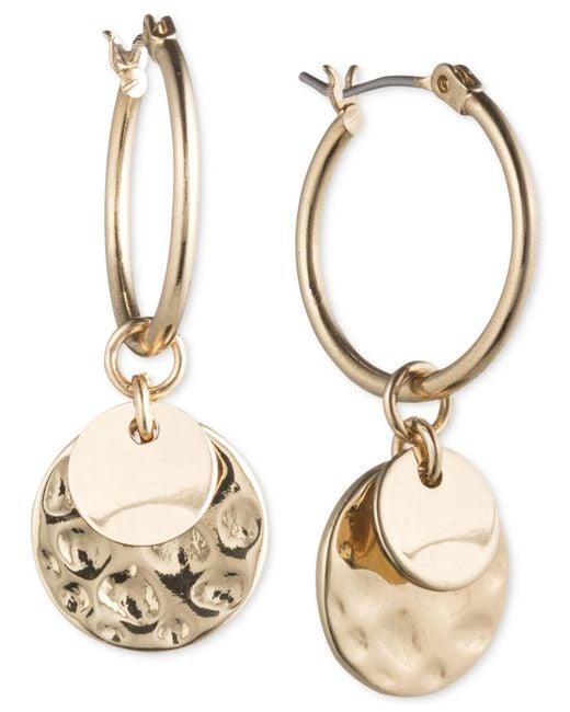 Lonna & Lilly - Metallic Gold-tone Multi-disc Hoop Earrings - Lyst