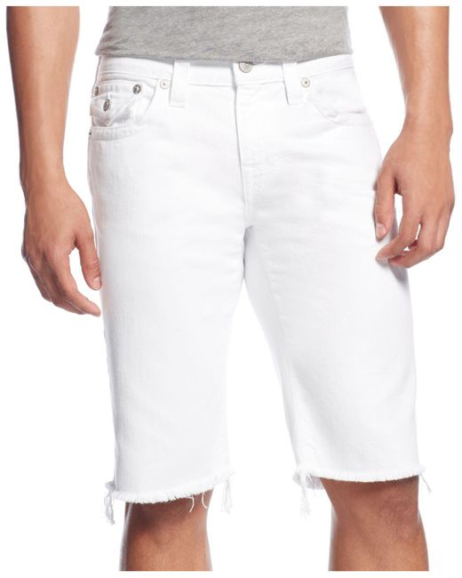 True Religion - White Relaxed Shorts for Men - Lyst