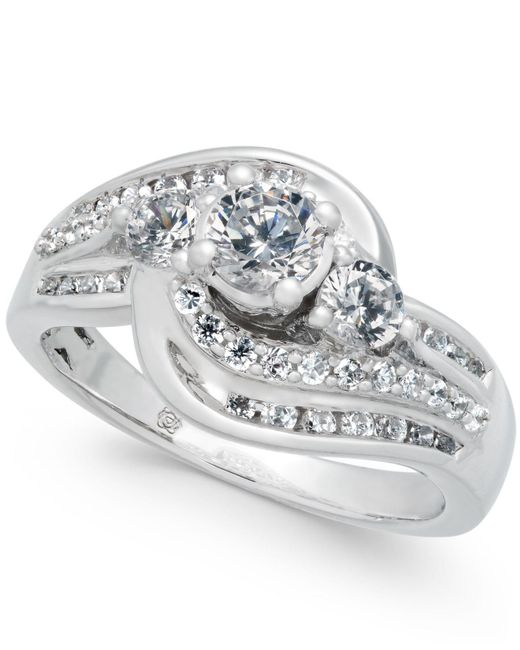 Macy's | Diamond Swirl Engagement Ring (3/4 Ct. T.w.) In 14k White Gold | Lyst