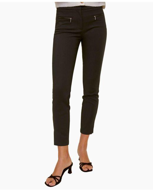 Mango Green Zip-pocket Slim-fit Trousers