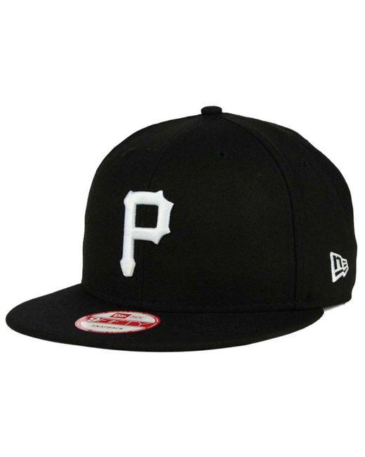 KTZ Black Pittsburgh Pirates B-dub 9fifty Snapback Cap for men