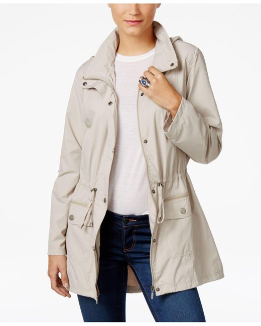 Style & Co. | White Tunic-length Anorak Jacket | Lyst