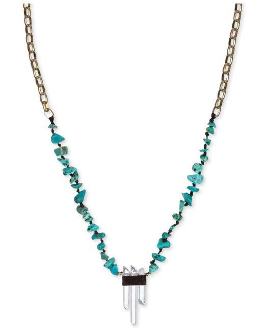 The Sak | Metallic Gold-tone Turquoise Beaded Crystal Pendant Necklace | Lyst