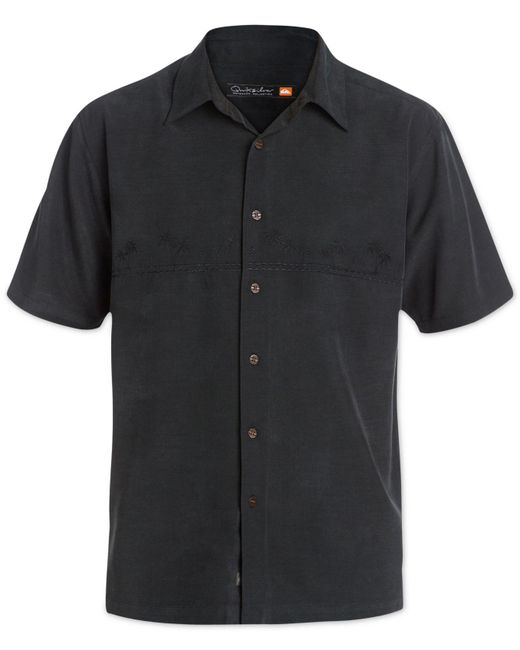 Quiksilver - Black Tahiti Palms Short-sleeve Shirt for Men - Lyst