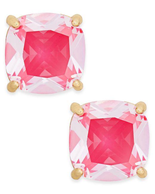 Kate Spade - Pink Gold-tone Aqua Crystal Stud Earrings - Lyst