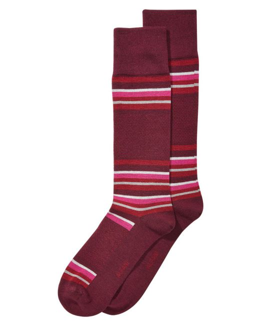Alfani - Red Blocked-stripe Dress Socks, Created For Macy's for Men - Lyst