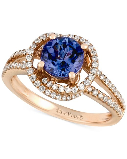 Le Vian - Pink Tanzanite (1-1/5 Ct. T.w.) And Diamond (3/8 Ct. T.w.) Ring In 14k Rose Gold - Lyst