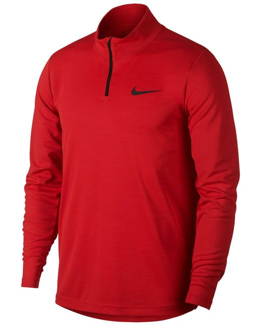 93c0ea71 Nike - Red Superset Quarter-zip Training Top for Men - Lyst ...