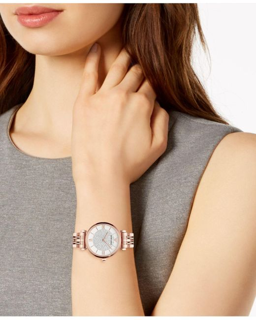 e1c23008ea Emporio Armani Rose Gold-tone Stainless Steel Bracelet Watch 32mm in ...