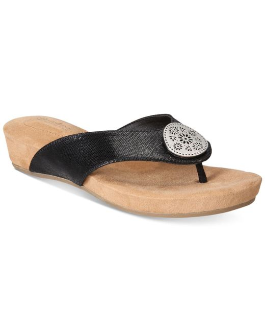 Giani Bernini - Black Rosahle Slip-on Wedges - Lyst