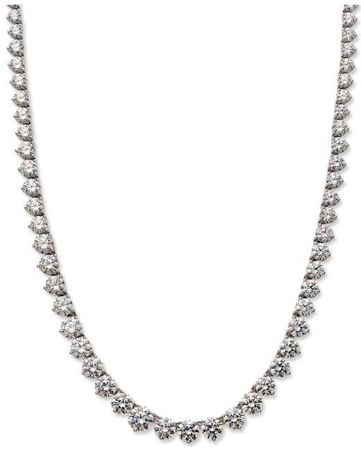 Arabella - Metallic Sterling Silver Necklace, Swarovski Zirconia Necklace (53 Ct. T.w.) - Lyst