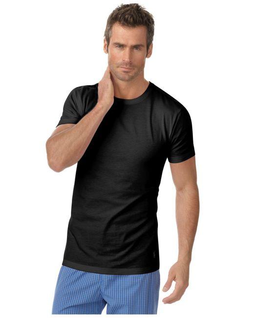Polo Ralph Lauren Black Mens Underwear, Slim Fit Classic Cotton Crews 3 Pack for men