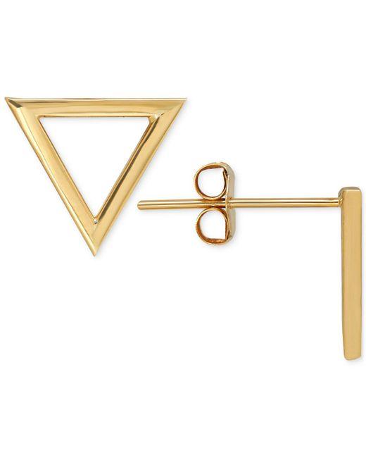 Macy's - Metallic Triangle Stud Earrings In 14k Gold - Lyst