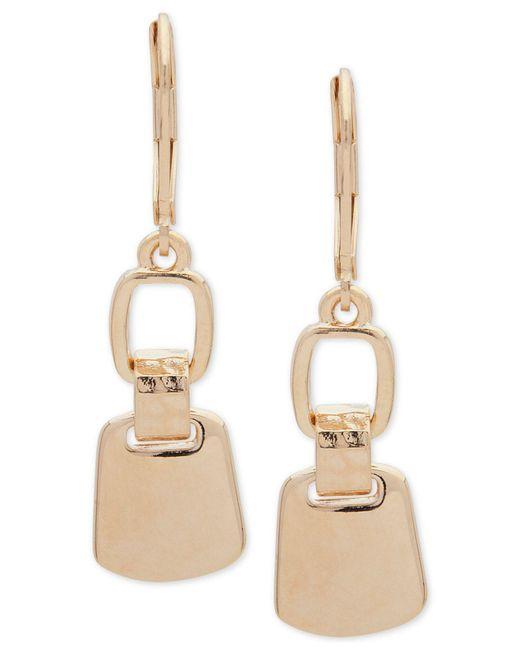 Nine West - Metallic Double Drop Earrings - Lyst