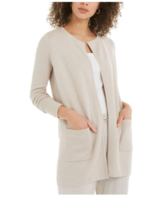 Charter Club Multicolor Milano Cotton Open-front Sweater, Created For Macy's