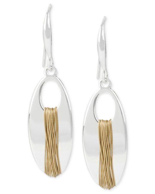 Robert Lee Morris - Metallic Two-tone Wire-wrapped Drop Earrings - Lyst