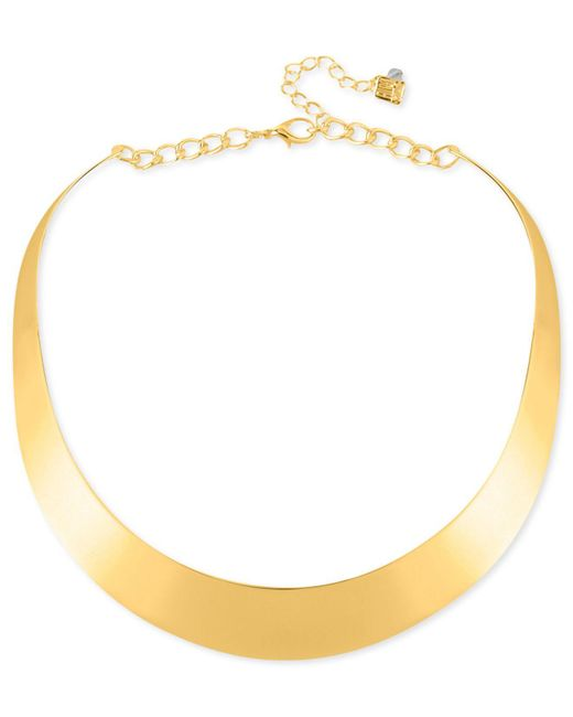 Robert Lee Morris | Metallic Necklace, Gold-tone Half-moon Collar Necklace | Lyst