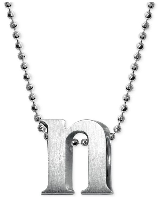 Alex Woo - Metallic Initial Pendant Necklace In Sterling Silver - Lyst