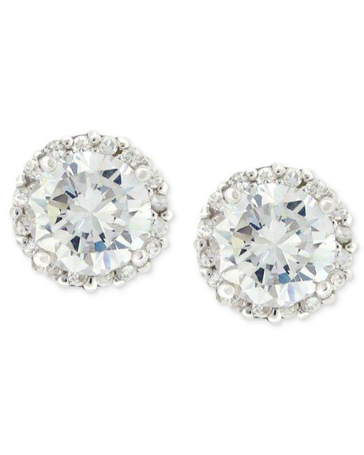 Giani Bernini | Metallic Sterling Silver Earrings, Pave Cubic Zirconia Stud Earrings (1-3/4 Ct. T.w.) | Lyst