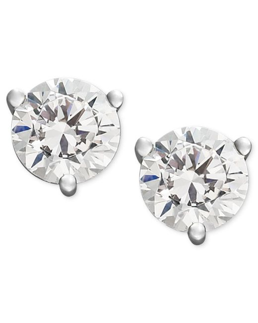 Macy's - Certified Near Colorless Diamond Stud Earrings In 18k White Or Yellow Gold (1/4 Ct. T.w.) - Lyst