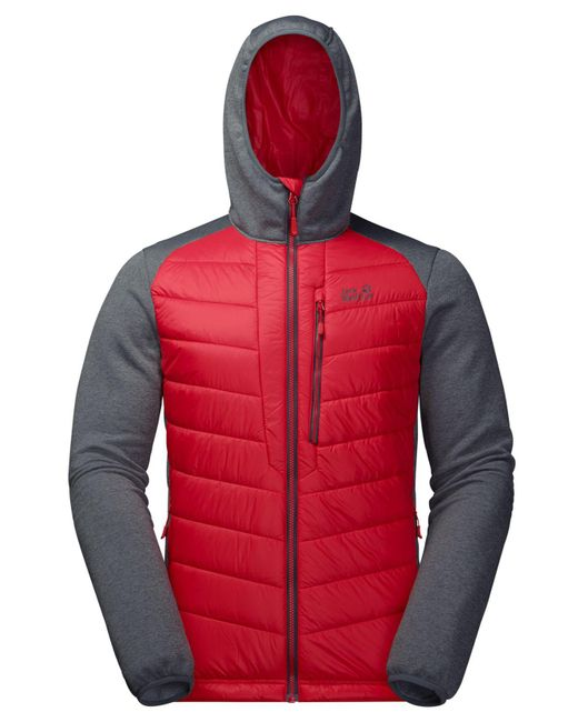 b67cc3d530c ... Jack Wolfskin - Red Skyland Crossing Hooded Full-zip Jacket From Eastern  Mountain Sports for