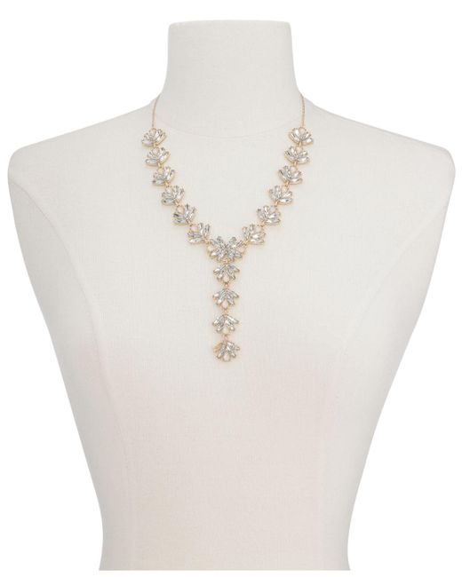 """INC International Concepts - Pink Multi-stone Lariat Necklace, 19"""" + 3"""" Extender, Created For Macy's - Lyst"""