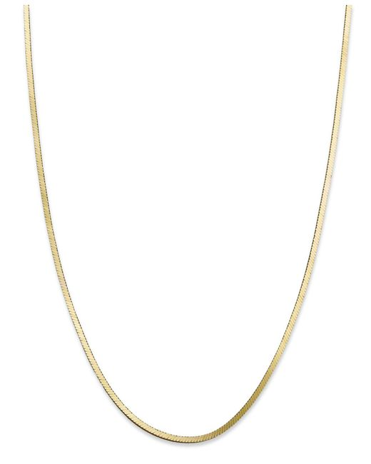 """Giani Bernini - Metallic 18k Gold Over Sterling Silver Necklace, 18"""" Snake Chain Necklace - Lyst"""