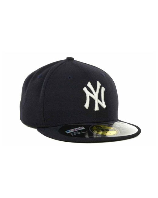3da46f3eb91 ... KTZ - Blue New York Yankees Authentic Collection 59fifty Hat for Men -  Lyst ...