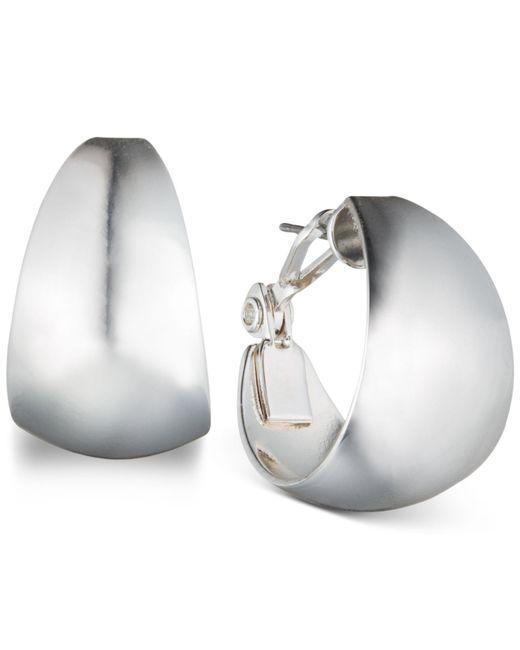 """Anne Klein - Metallic 3/4"""" Medium Band Hoop Earrings - Lyst"""