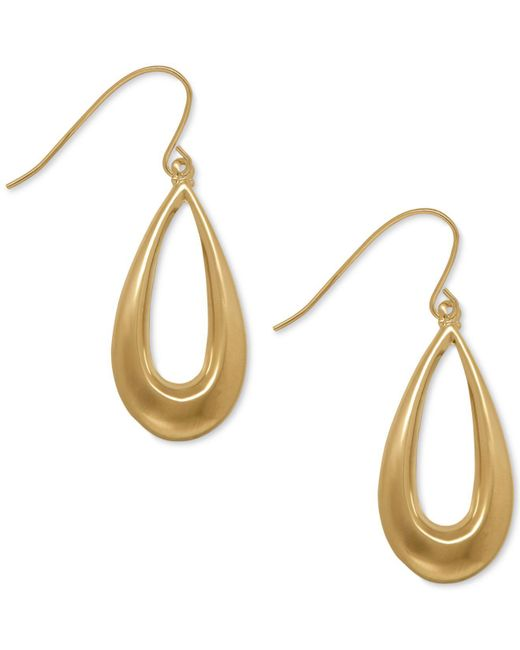 Macy's - Metallic Teardrop Wire Drop Earrings In 10k Gold - Lyst