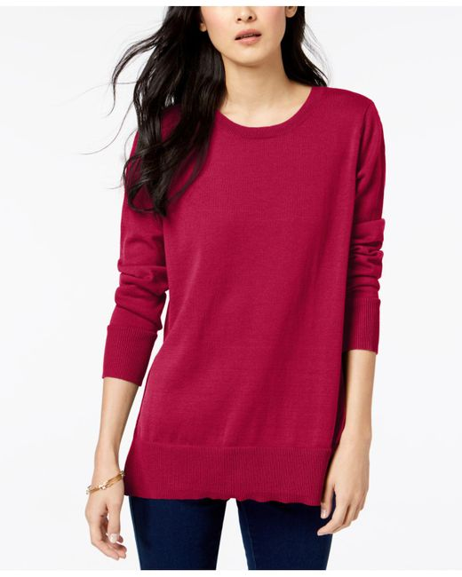 Maison Jules - Red Crew-neck Sweater, Created For Macy's - Lyst