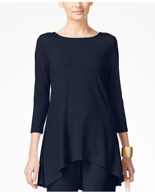 Alfani | Blue Jersey High-low Tunic, Only At Macy's | Lyst
