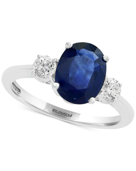 Effy Collection - Blue Sapphire (1-9/10 Ct. T.w.) And Diamond (3/8 Ct. T.w.) Ring In 14k White Gold - Lyst
